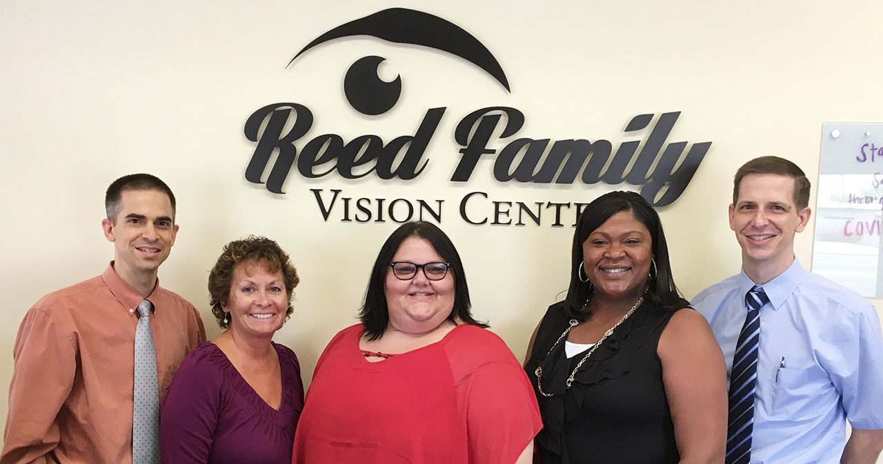 team photo at Reed Family Vision Center