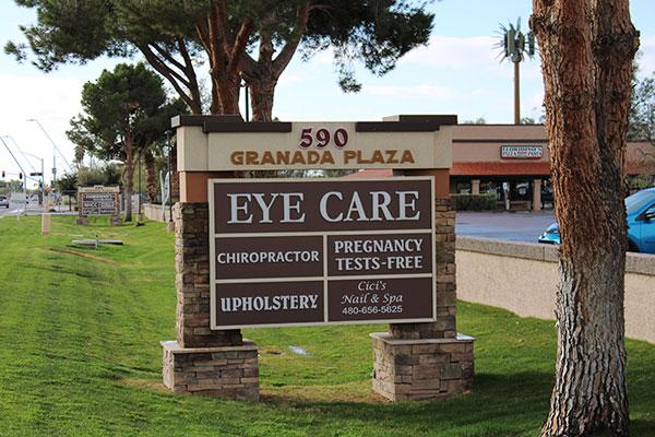 eye care sign optometry in Chandler az